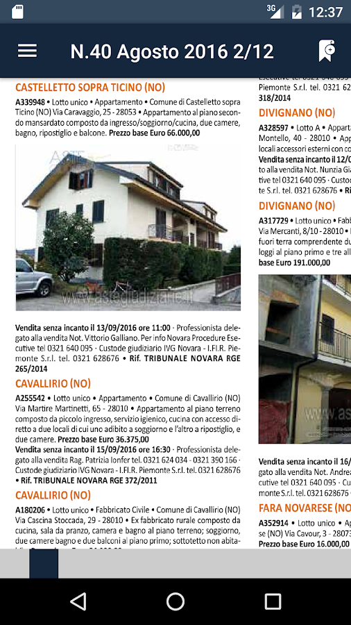 Aste Giudiziarie Press- screenshot
