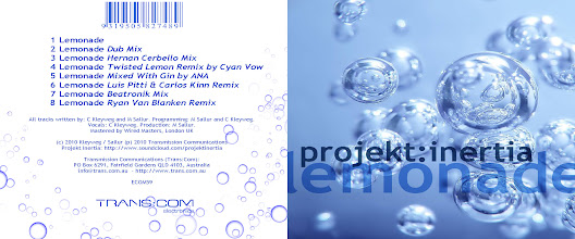 Photo: Master Artwork: ECOM59, Projekt Inertia - Lemonade, released September 2010. Design by Dennis Remmer.