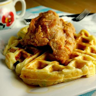Chicken and Potato Waffles.