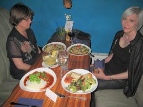 Photo: Fern and Pat found a vegetarian restaurant in Prague.