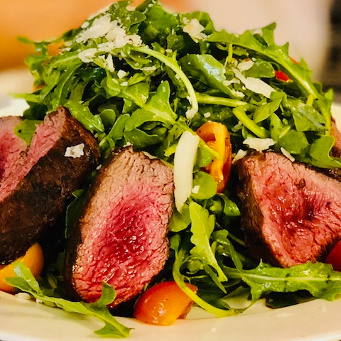 Tender Grilled Steak & Arugula