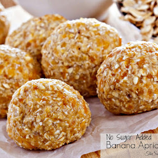 No Sugar Added Banana Apricot Balls