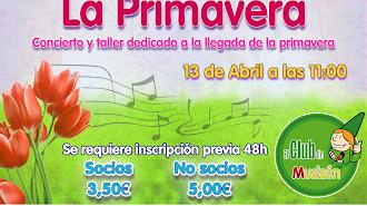 Cartel del Concierto La Primavera en Aula Creativa de Música.