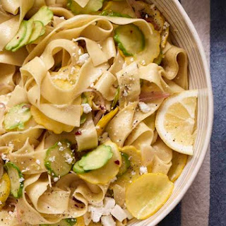 Patty Pan Pappardelle Pasta.