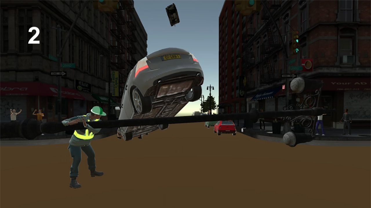 Batting a car- screenshot