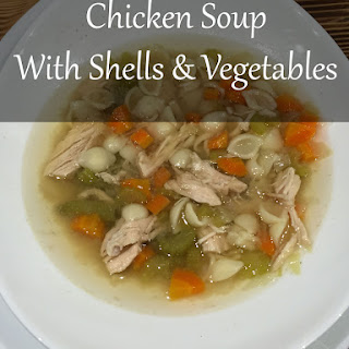Chicken Soup with Shells and Vegetables