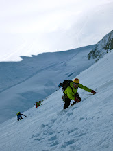 Photo: Traversing some icy slopes