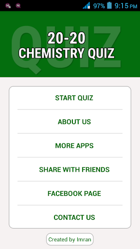 20-20 Chemistry Quizzes
