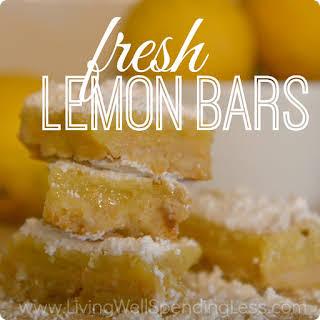 Fresh Lemon Bars.