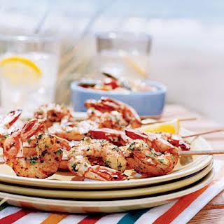 Caribbean Style Shrimp Skewers.