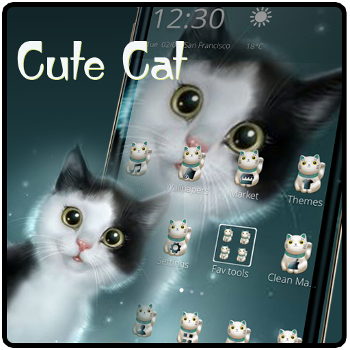 Cute Cat Kitty Theme