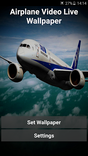 Airplane Video Live Wallpaper