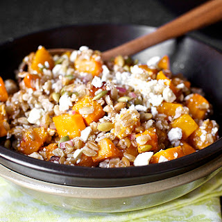 Butternut Squash Salad With Farro And Pepitas.