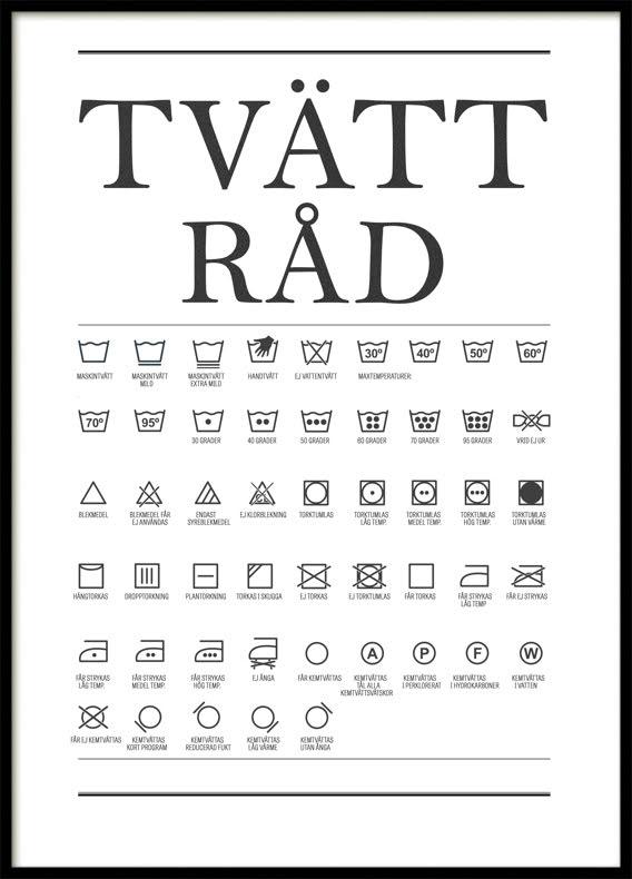 Tvättråd, Poster