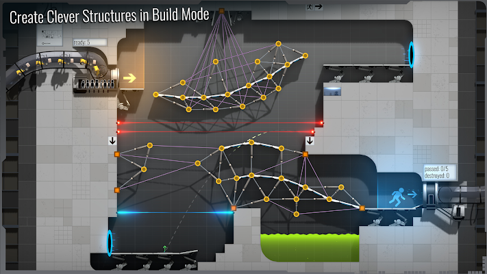 Bridge Constructor Portal- screenshot
