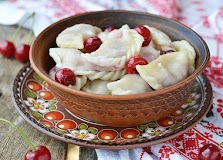 Dumplings with berry