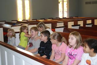 Photo: Junior choir rehearsal.