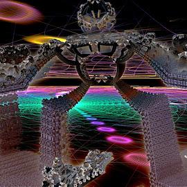 Mandelbulb Cyborg Warrior by Rick Eskridge - Illustration Sci Fi & Fantasy ( jwildfire, sci-fi, mb3d, fractal, twisted brush )