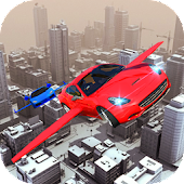 Futuristic Flying Car Simulator - Aim and Fire