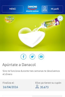 Alimenta Sonrisas de Danone screenshot