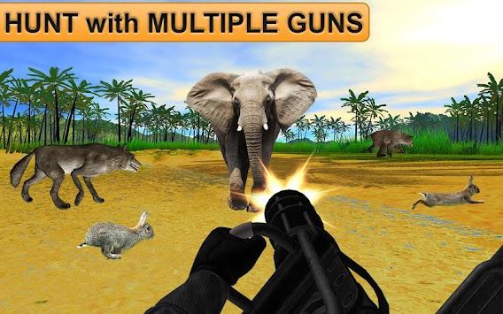 Animal Hunting Safari Shooting Expert 3d 2018 Game apk screenshot