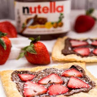 Easy Strawberry Nutella Tart.