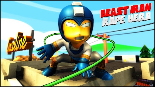 Beast Iron Rope Hero – Monster Stickman Hero Games 2