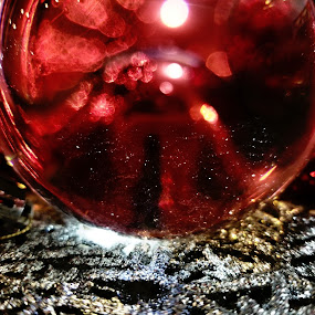 Blur by Chelsea Mason - Artistic Objects Glass ( red, ornament, winter, christmas,  )