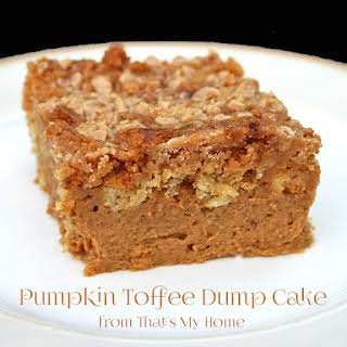 Pumpkin Toffee Dump Cake.