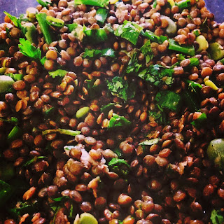 Lentil and Fava Bean Salad.