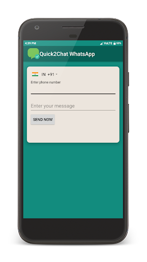 Quick2Chat - Chat with Unsaved Contact on WhatsApp screenshot 1