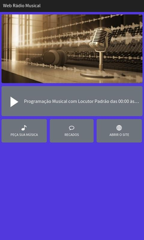 Web Rádio Musical- screenshot