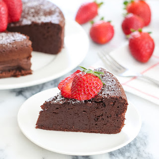 3 Ingredient Flourless Chocolate Cake.