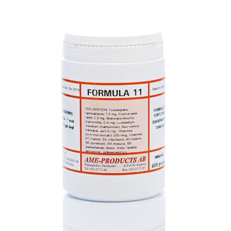 Formula 11 normaliserar tarmfloran