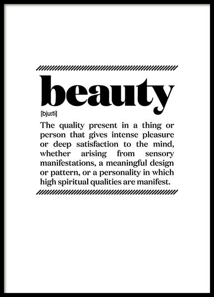 BEAUTY, POSTER