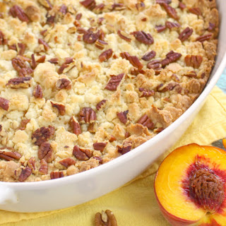 Cake Mix Peach Cobbler.