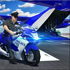 Police Airplane Transport Bike