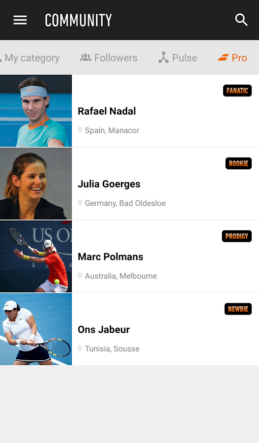 Babolat PLAY- screenshot