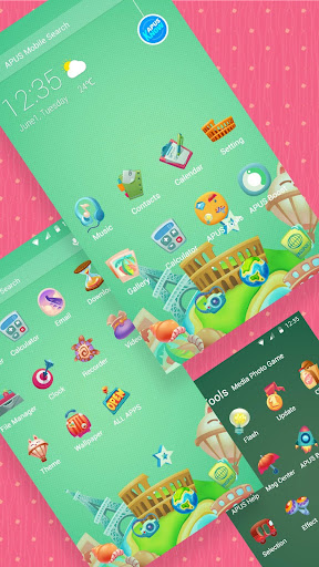 Green Cute Cartoon theme & HD wallpapers 1021.0 screenshots 2