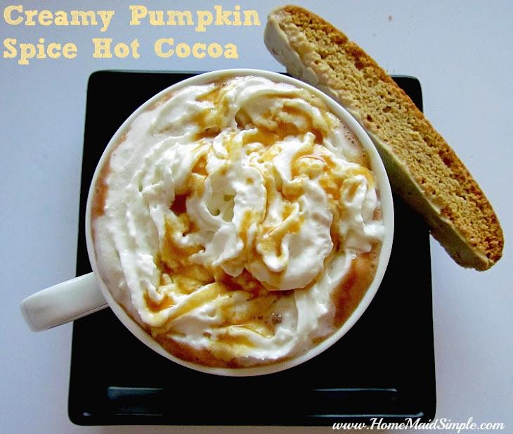 Creamy Pumpkin Spice Hot Cocoa Recipe   Yummly