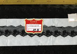 Photo: №746436-90チュールレース黒:巾35mm (在庫切れ)