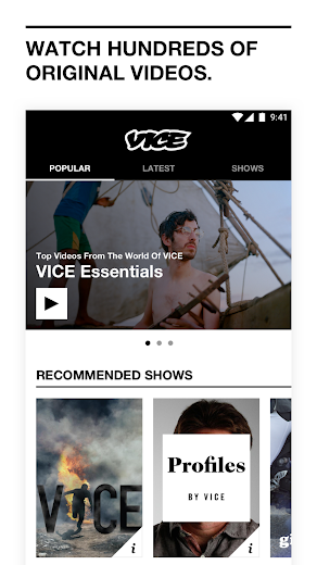 Screenshot 3 for VICE's Android app'