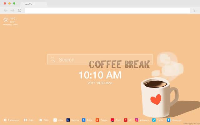 HD wallpaper coffee drinks New Tab thread