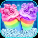 Rainbow Smoothie Maker & Icecream Milkshake icon