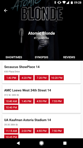 Screenshot 2 for MoviePass's Android app'