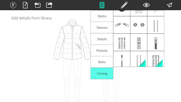 Fashion Design Flat Sketch APK screenshot thumbnail 3