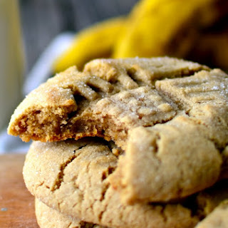Fat Chewy Peanut Butter Banana Cookies.
