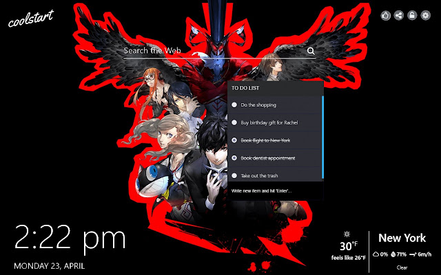 Persona 5 Hd Wallpapers Games New Tab Theme