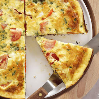 Spanish Omelette with Feta and Tomatoes.