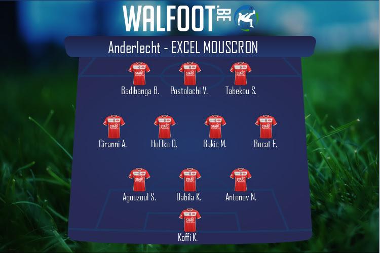 Excel Mouscron (Anderlecht - Excel Mouscron)